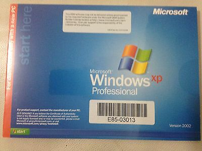 Microsoft Windows Xp Professional Version 2002 **new & Sealed**
