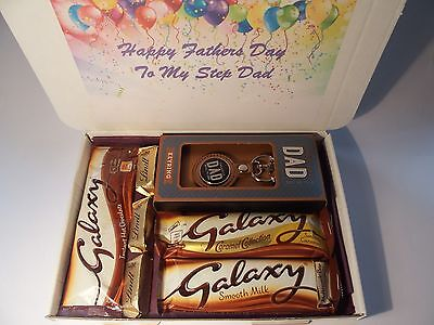 Personalised Fathers Day Gift Galaxy Lindt Hamper Dad Taid Grandad Uncle Stepdad