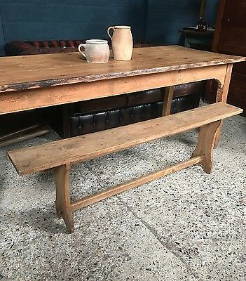 Lovely Vintage Antique Rustic French Country Farmhouse Bench
