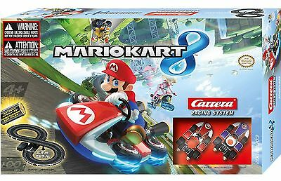 Mario Cart Toy 8 Slot Racing Car Racing Track Set System By Carrera NEW BOXED