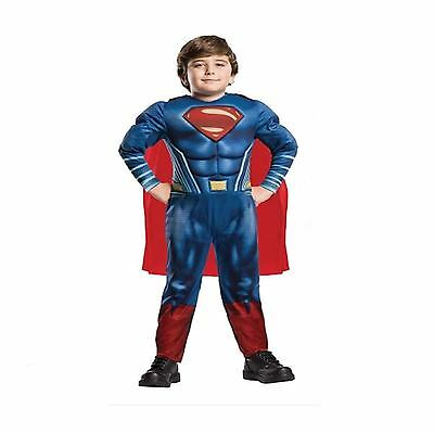 Deluxe Superman Fancy Dress Up Outfit Dawn Of Justice Costume Age 9-10 Years NEW