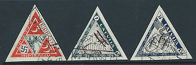 Latvia 1933 triangle Wounded airmen imperf set used