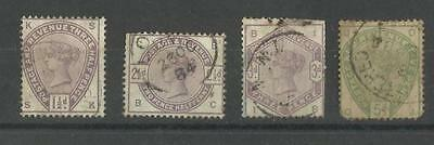 1800s VICTORIA SELECTION USED CDS COLLECTIBLE EARLY STAMPS TO 5d SEE SCAN