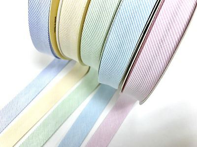 Woven Diagonal Striped Textured 18mm Bias Binding by Fany - sold by the metre