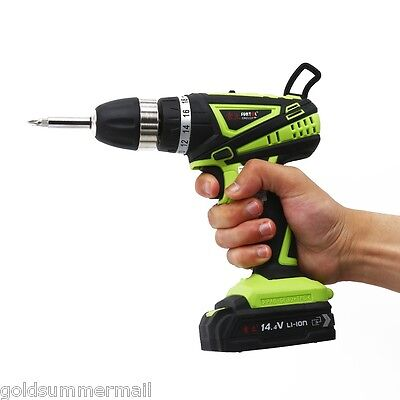 SUNTOL 14.4V Electric Drill Household Screwdriver Power Tool with Drill Bit
