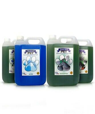 FRESH PET DISINFECTANT CLEANER PAW SAFE 4 X 5L PREFILLED Forest Fragrance Pack