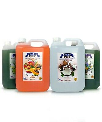 FRESH PET DISINFECTANT CLEANER ANIMAL SAFE 4 X 5L Tropical Fragrance Pack