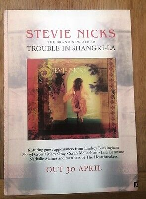 STEVIE NICKS Trouble in Shangrila UK magazine ADVERT/Poster/clipping 11x8 inches