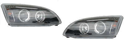 Ford Focus MK2 2005-08 Black Style Angel Eyes Headlights Lamps Upgrade 1 x Pair