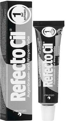 Refectocil No. 1 Black Color Eyebrow Eyelash Professional Tint 15 ml