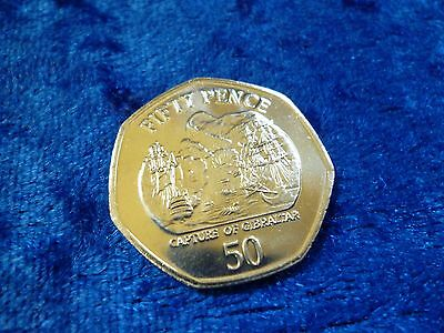 Gibraltar 50p Fifty Pence 2005 Capture Of Gibraltar UNC