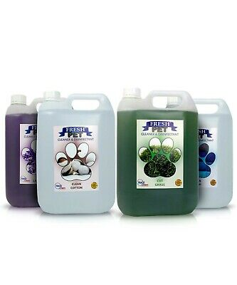 4 X 5L FRESH PET Kennel/Cattery Disinfectant Cleaner Summer Breeze Fragrances