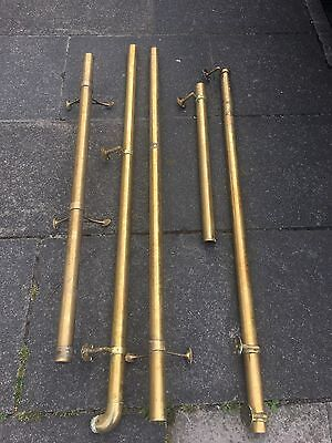 Heavy Brass Bar Foot Rail Hand Rail With Brackets Ends And Bends