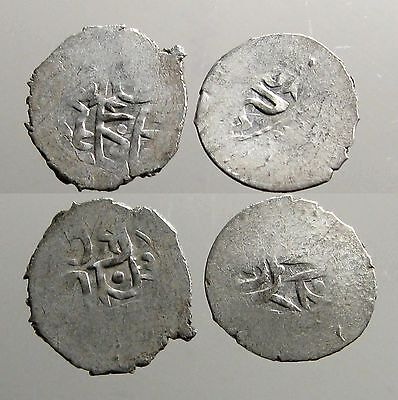 2 SILVER COINS OF THE GOLDEN HORDE___Mongol Empire___DESCENDANTS OF GENGHIS KAHN
