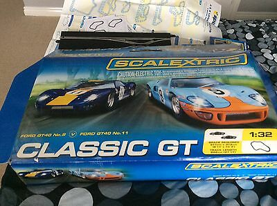 SCALEXTRIC C1233 CLASSIC GT 1/32 BOX SET With EXTRAS VGC