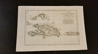 1782 Map of St. Dominque/Porto Rico