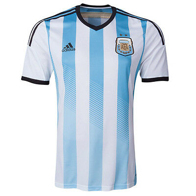 Adidas Argentina Home Replica Football Short Sleeve Boys 2014 Jersey G74571 EE21