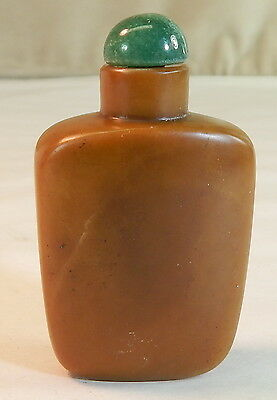 Chinese Brown Hard Stone Snuff Bottle, 19th century