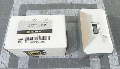 Square D 2510 FG1  FHP MANUAL STARTER NEMA TYPE 1 ENCLOSURE