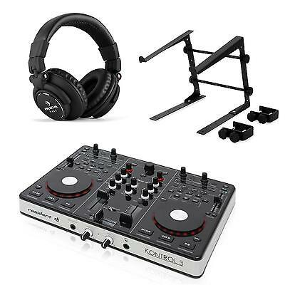 Dj Studio Usb Midi Controller Audio Interface Set Mit Laptopständer & Kopfhörer