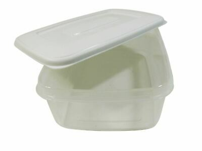 5 X Day Meal Lunch Exercise Food Storage Tubs Pots Box 2 Lt Each Made In Uk
