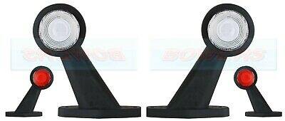 2 x RED WHITE RUBBER SIDE STALK MARKER LIGHT IFOR WILLIAMS INDESPENSION TRAILERS