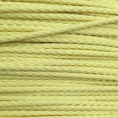 1.7mm 400lb Yellow Kevlar Braid Speargun Band Constrictor Cord / Line 50ft Spool