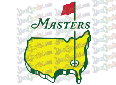 Masters Golf Logo -  Vinyl Decal stickers - Made in USA