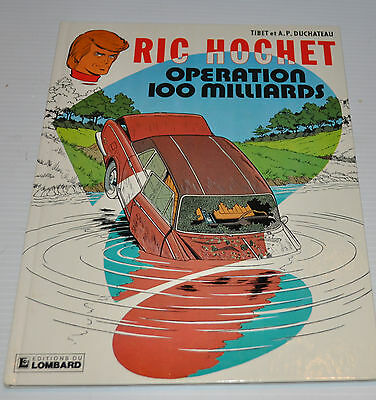 RIC HOCHET: Operation 100 Milliards BD French Comic Book Lombard 1979