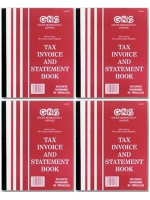 "GNS 9573 Tax Invoice & Statement Book 5"" x 8"" Triplicate Carbononless - 5 Pack"