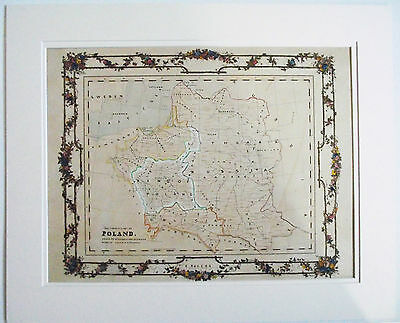 Hand Drawn Map The Former King Of Poland E Rogers 1867