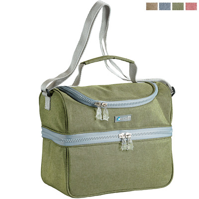 Borsa Termica 2 Scomparti Lunch Pack 4+3 Litri Con Tracolla Colori Assortiti
