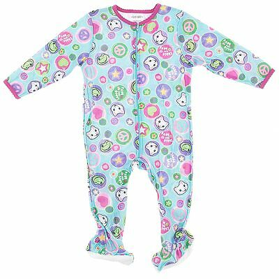 NEW Blue Cat Footie One-Piece Pajamas for Infant Girls Baby Sleeper