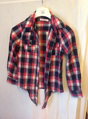 girls Bluezoo checked shirt age 7