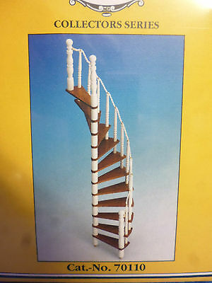 Dolls House Diy   Wooden Spiral Staircase Kit Md70110