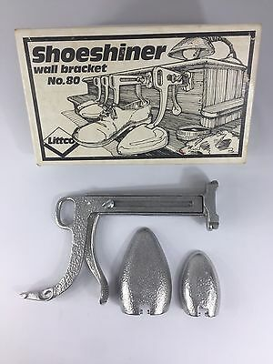 LITTCO Shoe Shiner Holder Shoeshine wall bracket #80 Vintage