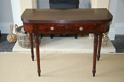 Antique Folding / Expanding Console Table - Solid Wood c 1820