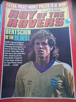 Roy of the Rovers 10th January 1981 Combined Postage Offered For Multiple Buys