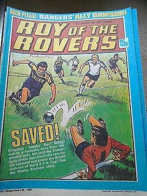 Roy of the Rovers 31st January 1981 Combined Postage Offered For Multiple Buys