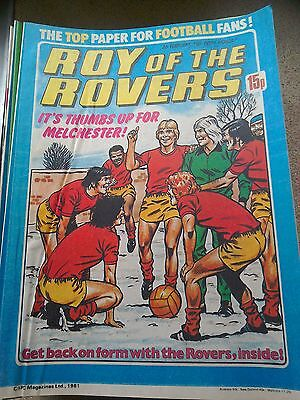 Roy of the Rovers 07th February 1981 Combined Postage Offered For Multiple Buys