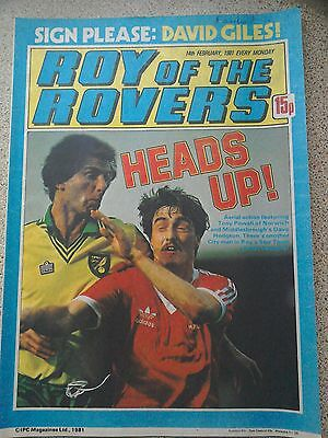 Roy of the Rovers 14th February 1981 Combined Postage Offered For Multiple Buys