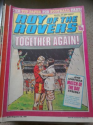 Roy of the Rovers 04th April 1981 Combined Postage Offered For Multiple Buys