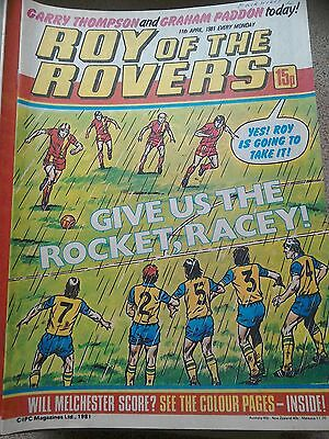 Roy of the Rovers 11th April 1981 Combined Postage Offered For Multiple Buys