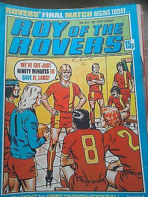 Roy of the Rovers 16th May 1981 Combined Postage Offered For Multiple Buys