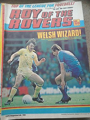 Roy of the Rovers 11th July 1981 Combined Postage Offered For Multiple Buys