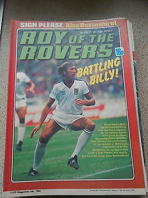 Roy of the Rovers 08th August 1981 Combined Postage Offered For Multiple Buys