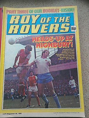 Roy of the Rovers 26th September 1981 Combined Postage Offered For Multiple Buys