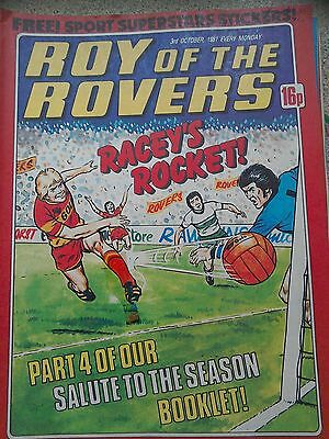 Roy of the Rovers 03rd October 1981 Combined Postage Offered For Multiple Buys
