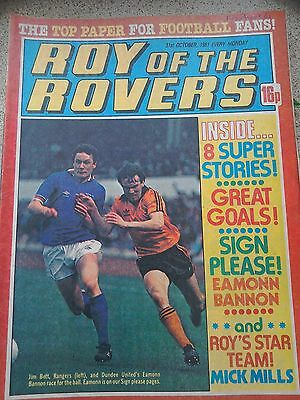 Roy of the Rovers 31st October 1981 Combined Postage Offered For Multiple Buys