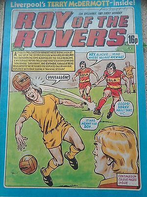 Roy of the Rovers 12th December 1981 Combined Postage Offered For Multiple Buys